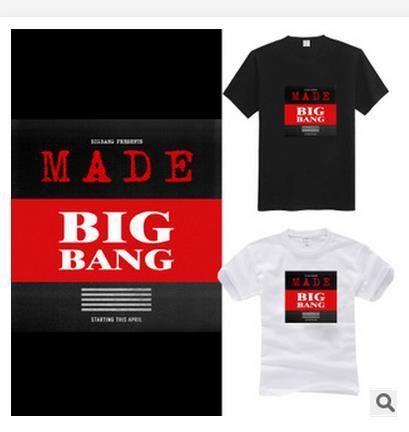 Tees g smok regresji BTS 2016 kpop Bigbang Gd Bigbang z krótkimi rękawami koszuli k-pop exo góry kaptur hoody