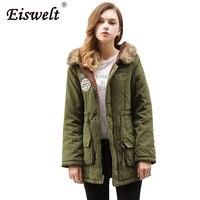 Plus Size XXXL Parka Women Coat Winter Military Coats Women Wadded Cotton Fur Hooded Jacket Medium
