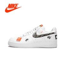 Оригинальный Новое поступление Аутентичные Just do it Nike Air Force 1 низкая для мужчин удобные обувь для скейтбординга спортивные кроссовки AR7719-100