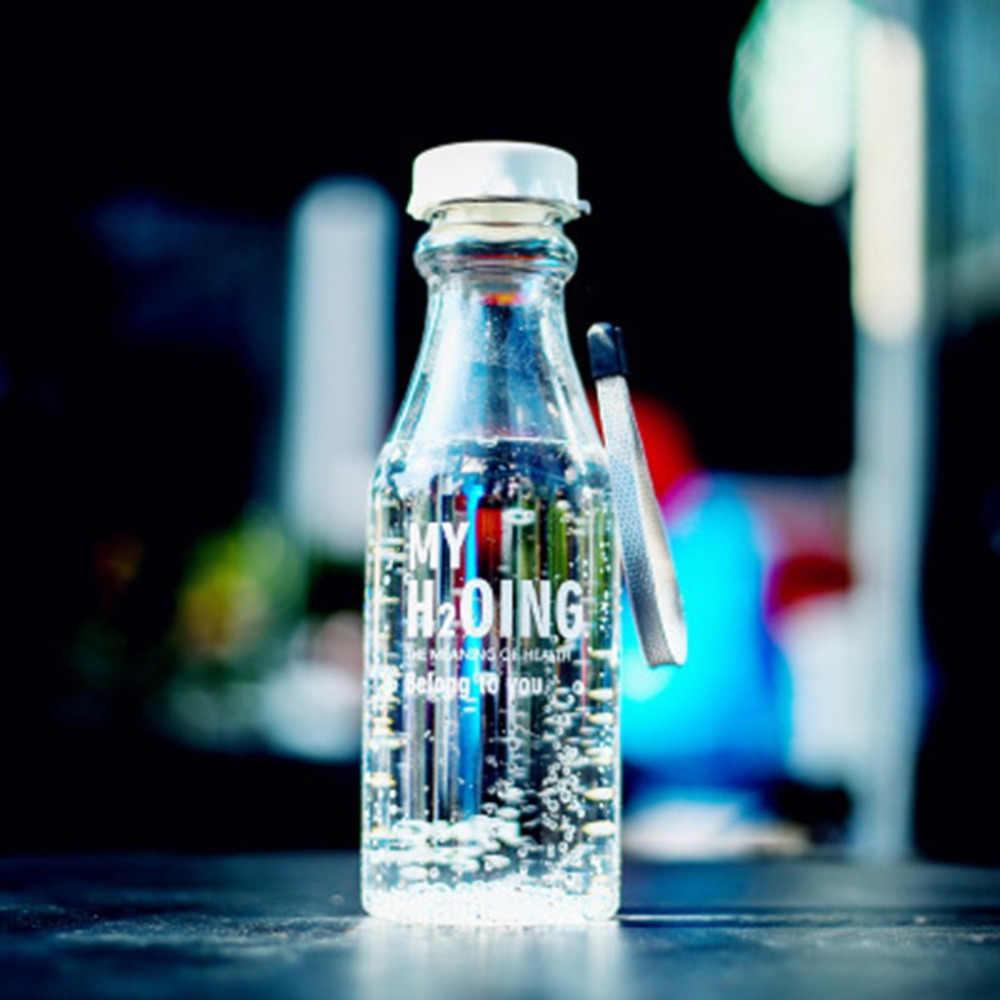 Botella de agua irrompible agitador de viaje deportivo portátil a prueba de fugas de ciclismo Camping botella de agua 550 ML botella de Soda con cordón