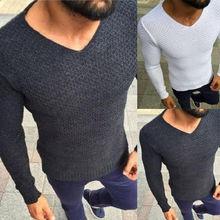 HIRIGIN Newest Hot Mens Winter Long Sleeve V Neck Sweaters Jumper Slim Fit Underwear Casual Pullovers Nightwear