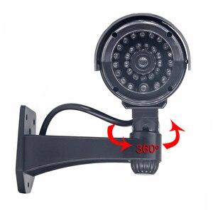 Image 4 - Fake Dummy CCTV Camera Bullet Waterdichte Outdoor Indoor Beveiliging Surveillance Camera Solar Met Led Licht Gratis Verzending