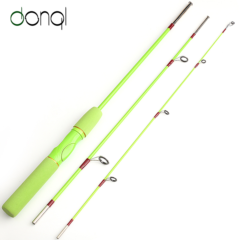DONQL 1.5M FRP Spinning Fishing Rod Lure Rod 3 Sections Line 6-15lb Lure weight 3-20g EVA handle Travel Fishing Rod For Kids