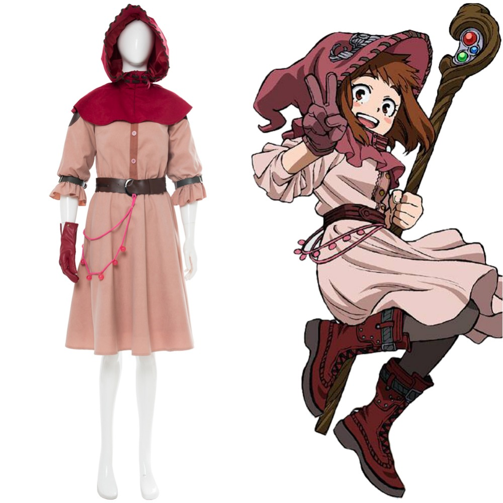 Cosplay Costume My hero Academia Boku no Hero Academia OCHACO URARAKA Witch Cosplay Costume For Women Girls