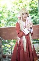 Gothic Lolita Chobits Chii café uniforme de la escuela vestido Cosplay del traje del Anime vestido por encargo cualquier tamaño nuevo