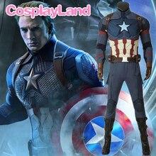 Avengers 4 Endgame Captain America Cosplay Costume Full Set Outfit Captain America Steve Rogers Superhero Jumpsuit Custom Made