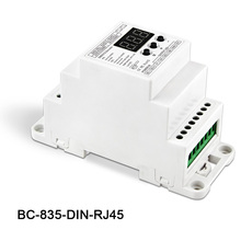 BC-835-DIN-RJ45 5CH DC12-24V input 5A*5CH output Constant voltage PWM DMX512/1990 Decoder controller for led strip light lamp lt 820 5a 4channel constant voltage led dmx pwm decoder dimmer 8 16 bits optional oled display 5a 4channel max 20a output