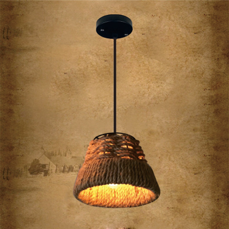 Yellow Industrial Pendant Light: Aliexpress.com : Buy Vintage Industrial Pendant Lamps Rope