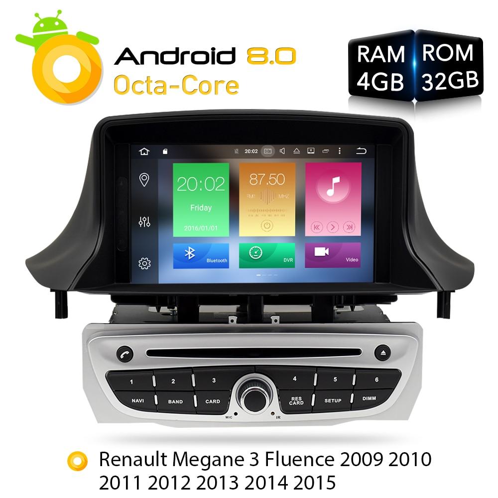 Android7.1 Voiture Stéréo Lecteur DVD GPS Glonass Navigation pour Renault Megane 3 Fluence 2 GB RAM Vidéo Multimédia Radio headunit