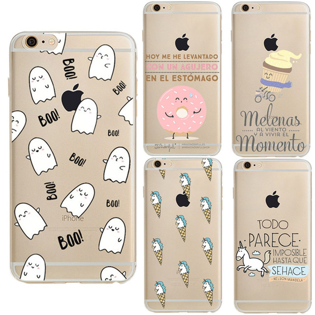Mr wonderful unicorn boo transparent silicone soft tpu coque for iphone 6 case for iphone 6s - Fundas iphone s mr wonderful ...