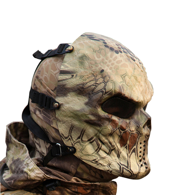 2018 Full Face Mask Typhoon Camouflage Hunting Accessories Ghost Tactical Outdoor Military CS War game Paintball Airsoft Skull