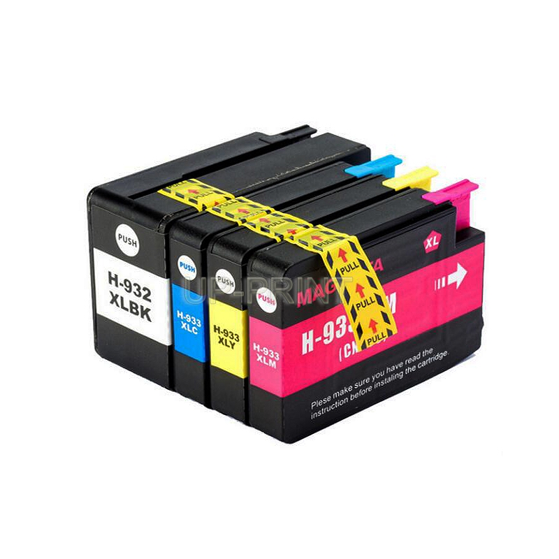UP 8pcs Ink Cartridges compatible for HP 932 933 replacement for HP932 Officejet 6100 6600 6700 7110 7610 7612 7510 7512 printer