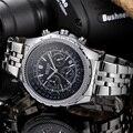 Relojes Hombre 2016 Megir Chronograph Mens Watches Top Brand Luxury Stainless Steel Wrist Watch Men  Watches Quartz Watch MGE03