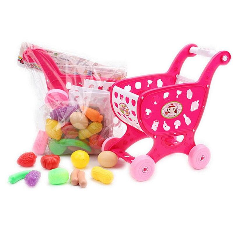 37 шт. Забавная детская корзину супермаркет Пластик ABS Кухня претендует игрушки для детей мальчиков и девочек развлечения подарки
