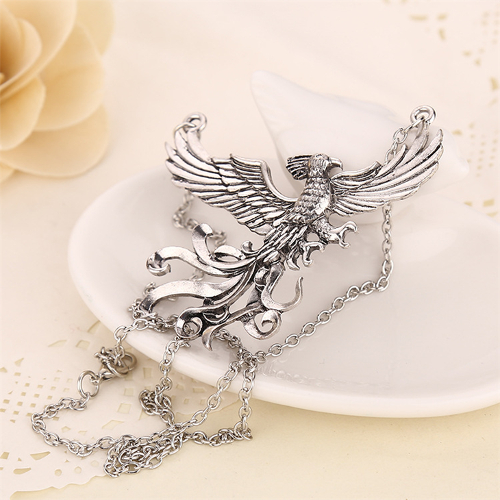 Phoenix fire bird necklace vintage antique silver firebird pendant phoenix fire bird necklace vintage antique silver firebird pendant jewelry for men and women wholesale in pendant necklaces from jewelry accessories on aloadofball Images