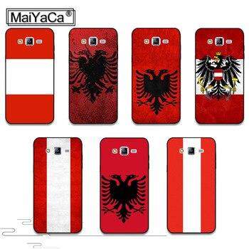 MaiYaCa Albania Bandera de Austria superior detallada teléfono popular funda para Samsung j7 j8 j4 j6 j2pro a9 a8 a6 2018 cubierta de la Caja