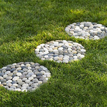 Garden DIY Plastic Mold Path Pavement Model Concrete Stepping Stone Cem