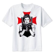 Resident evil 2018 camiseta divertida de los hombres camiseta impresa  hombres de manga corta Camiseta Homme camiseta T2059 1e810a41071