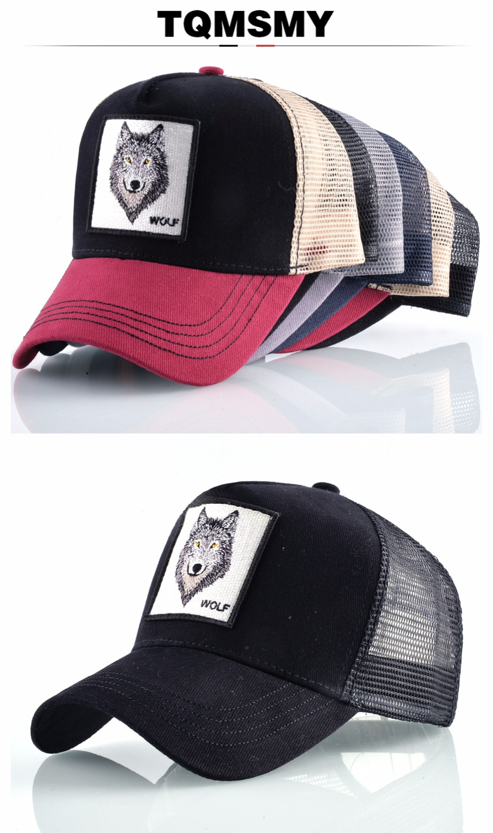Su comercio tiene que asegurarse sobre que antes de cohechar un 8 tipos de bordado  animal gorras de béisbol de los hombres de malla transpirable Snapback ... 950243db74b