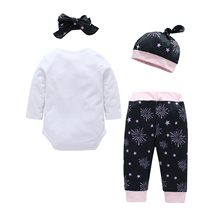 Christmas New Year Autumn and winter Childrens wear Four-piece Leisure Children Suits