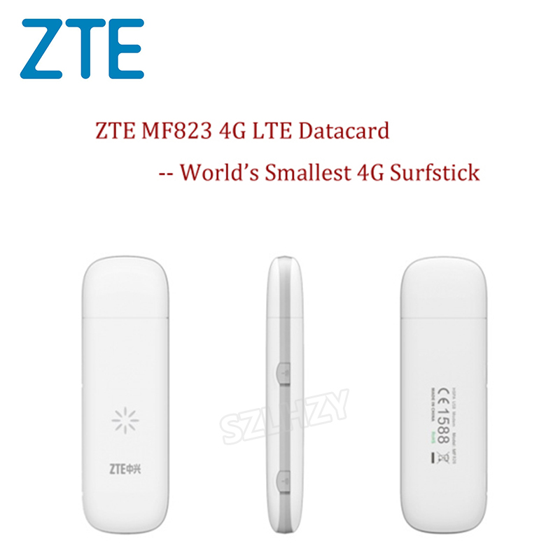 Unlocked Original ZTE MF823 Wireless 4G LTE FDD 3G Dongle Modem 100Mbps SIM Card Moblie Phone Hotspot Dongle PK HUAWEI  xiaomi(China)