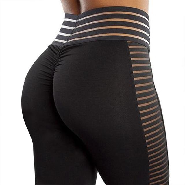 CHRLEISURE Women Bubble Butt Leggings Push Up Workout Leggings Mujer High Waist Sportswear Women Black Fitness Leggings Women 1