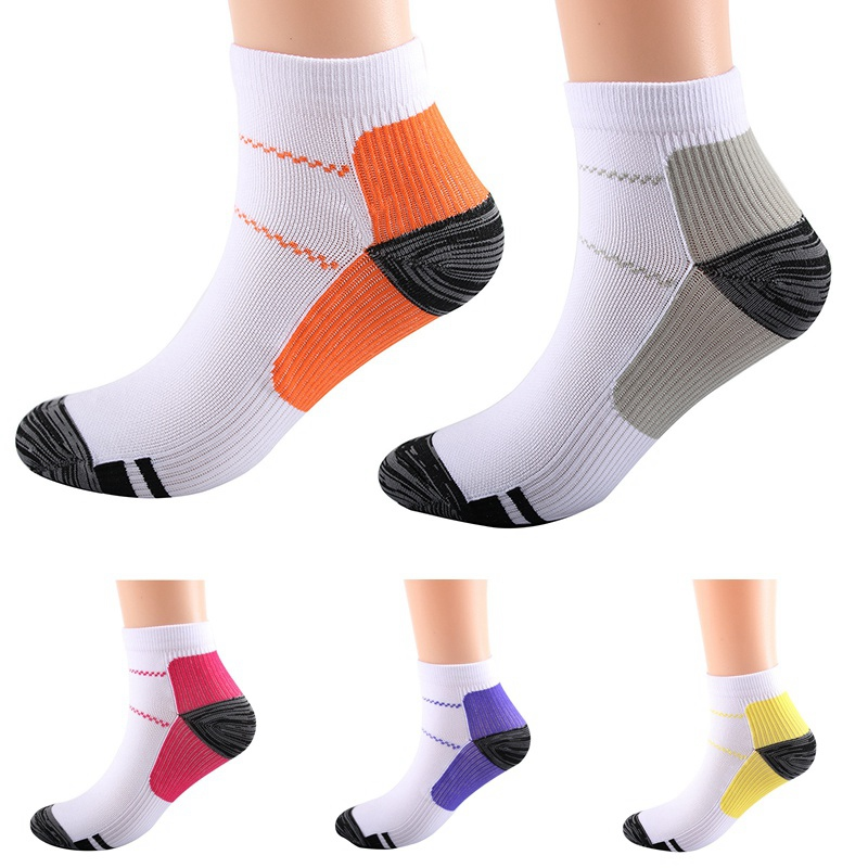 1 Pair Breathable Foot Compression Socks Running Tennis Sports Sock For Heel Spurs Arch Pain Comfortable Socks Hot