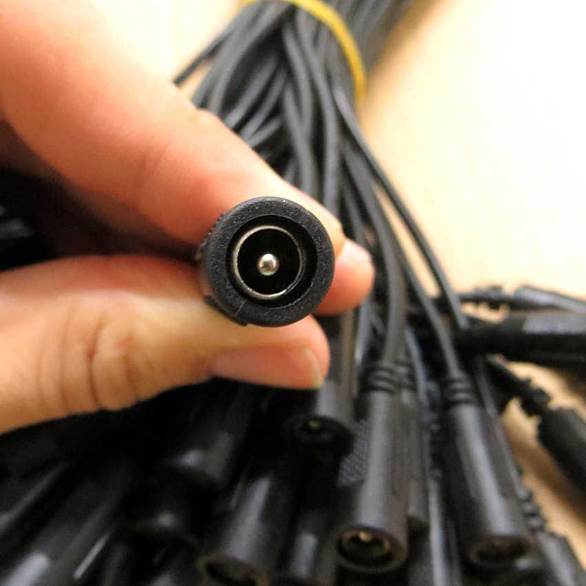 DC kobieta pojedyncze głowy monitorowania przewód 5.5*2.1 taśmy przewód światła 12 V 4A liniach prądu stałego 30 cm 0.12 miedzi rdzeń 0.4 kwadratowe złącze zasilania