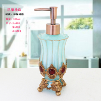 Vintage Baroque 350ml 12oz Resin Gold Royal Luxury Bathroom Soap Lotion Pump Dispenser Hand Sanitizer Bottle