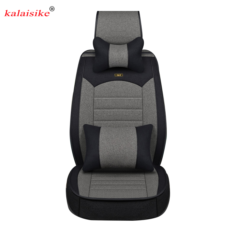 Kalaisike Flax Universal Car Seat covers for SEAT all model LEON Toledo Ateca IBL exeo arona car styling accessoriesKalaisike Flax Universal Car Seat covers for SEAT all model LEON Toledo Ateca IBL exeo arona car styling accessories