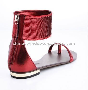 Stylish classic sequins flat sandals D62261