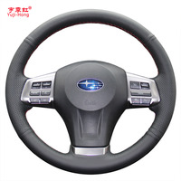 Steering Wheel Leather Cover Case For SUBARU XV FORESTER 2013 Outback LEGACY Genuine Leather DIY