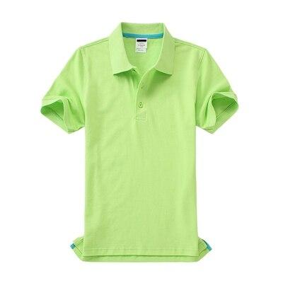 Черные, синие, белые, серые, желтые женские рубашки поло с коротким рукавом, женские повседневные рубашки поло, свободные женские рубашки больших размеров, хлопковые рабочие Топы - Цвет: Зеленый
