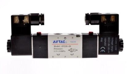 все цены на  AirTac new original authentic solenoid valve 4V120-06 AC220V  онлайн