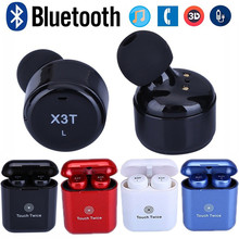 Mini Touch Control X3T TWS Wireless Bluetooth 4 2 Headset Earphone with Charger Box for Smart