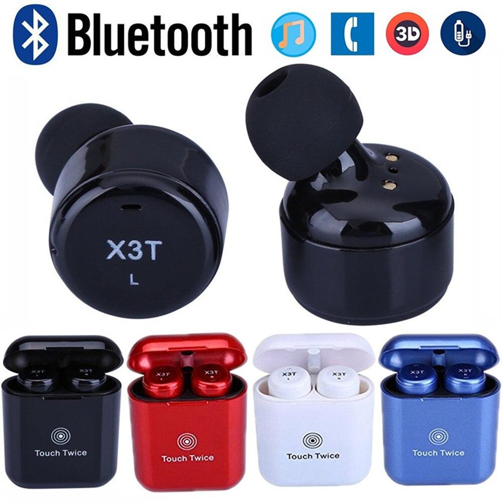 Mini Touch Control X3T TWS font b Wireless b font Bluetooth 4 2 Headset Earphone with