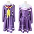 The Game Of Life No Game No Life Cosplay Costume New Nogemu Noraifu Shiro Kawaii Girls School Uniform Sailor Dress Suit