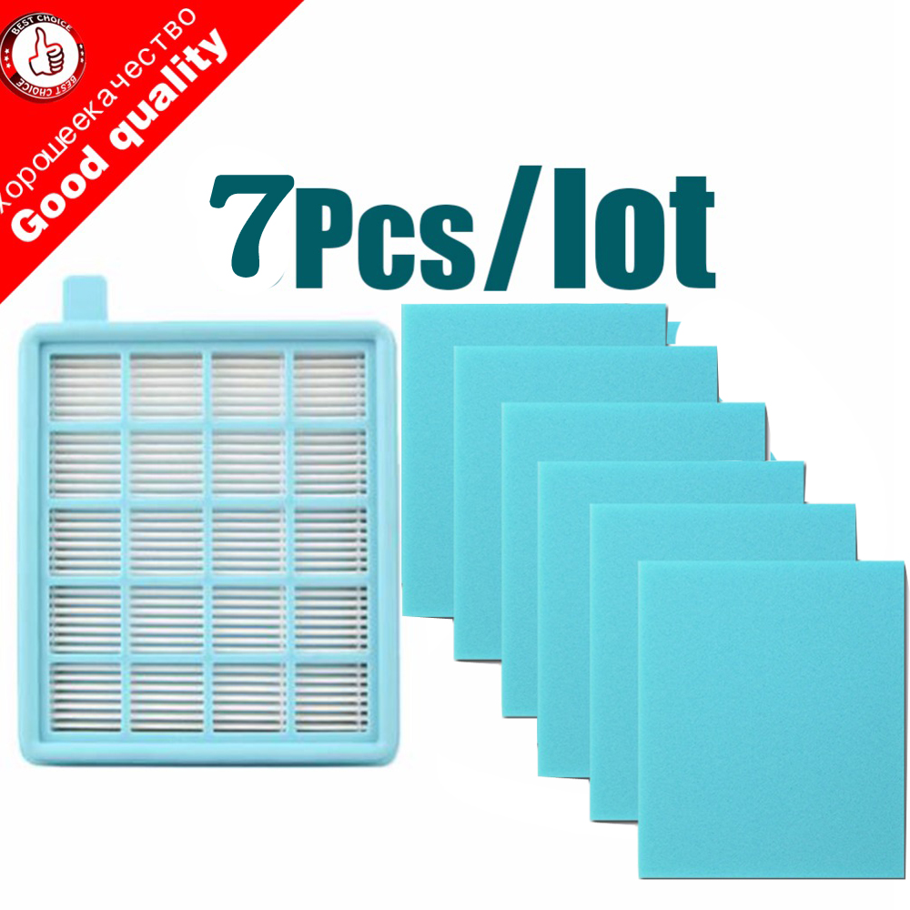 7pcs/lot Filter Mesh HEPA FILTER BUFFALO-MISTRAL For Philips Vacuum Cleaner FC9520  FC9521 FC9522 FC9523 FC9524 FC9525 FC8470