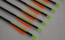 Free shipping 6 pieces 32 spine 400 carbon arrow target point with insert hunting shooting archery