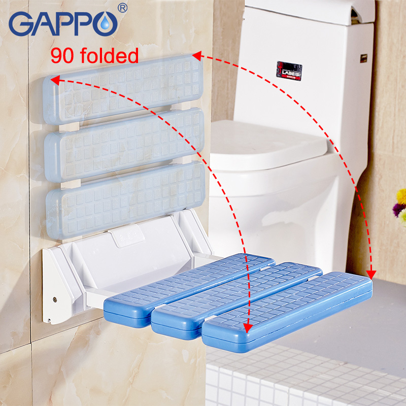 Wall Mounted Shower Seats Gappo Wall Mounted Shower Seats Bath Stool Folding Toilet Chair Shower Seats Bathroom Shower Folding Seat Tub Bench Chair Complete In Specifications