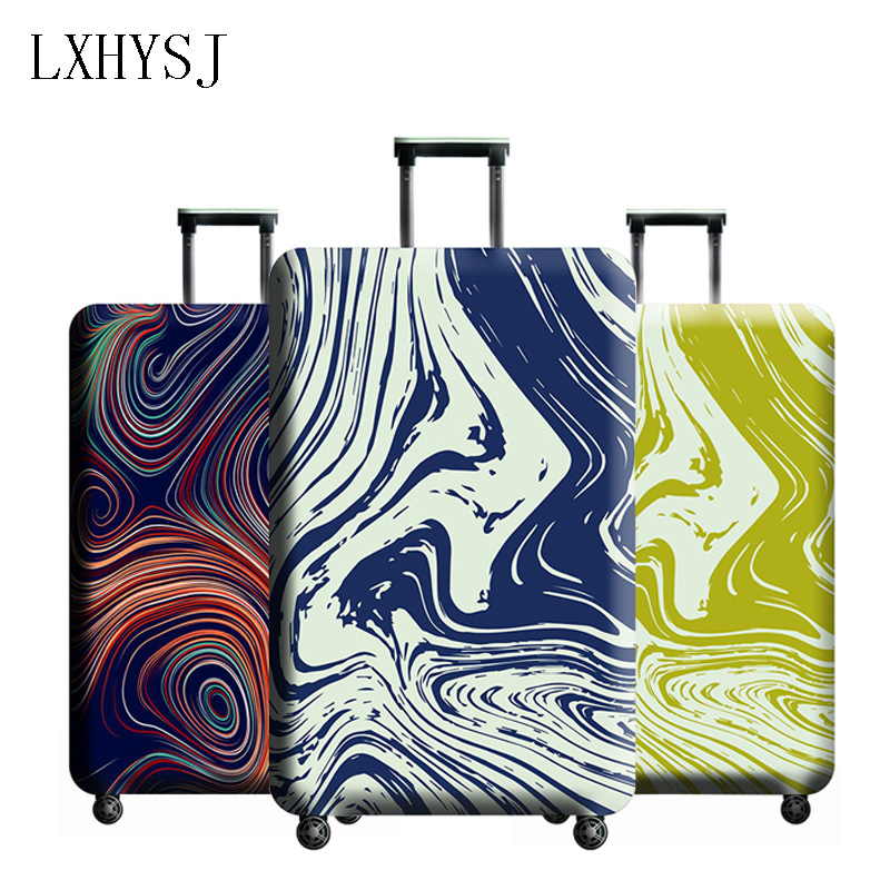 LXHYSJ Elasticity Luggage Protective Covers Luggage Cover Suitable For 18-32 Inch Suitcase Case Travel Accessories