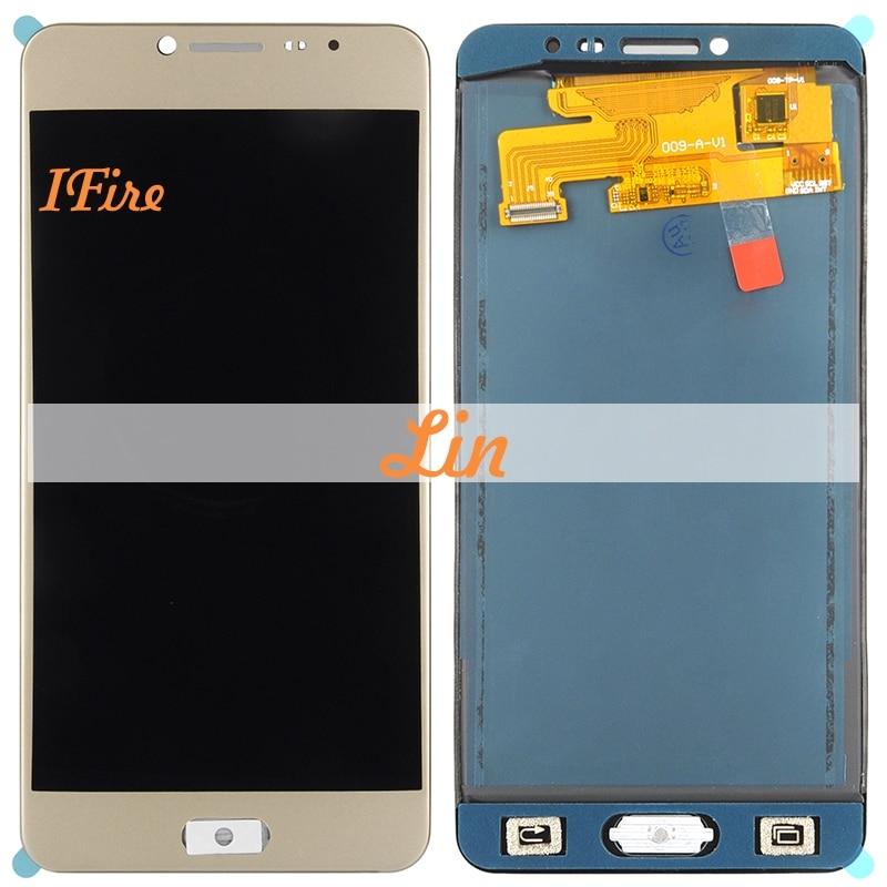 1 шт. IFire C7000 ЖК Экран для samsung Galaxy C7 C7000 ЖК Экран дисплея + Сенсорная панель планшета Ассамблея Бесплатная доставка + инструменты