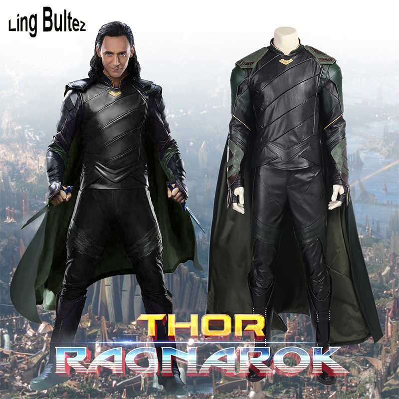 Ling Bultez High Quality Thor 3 Cosplay Costume Loki Costume 2017 Loki Cosplay Costume For Halloween