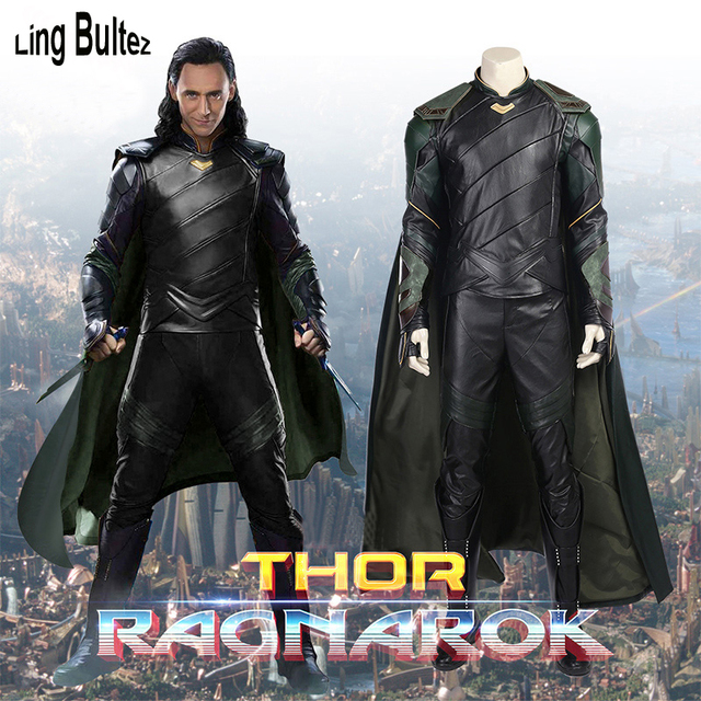 Ling Bultez High Quality Thor 3 Cosplay Costume Loki ...