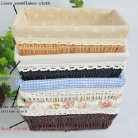 Basket Storage Box Wicker Basket Fruit Decoration Panier Cesta Desktop Storage Woven Baskets Crafts Home Decoration
