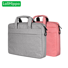 LoliHippo Notebook Shoulder Bag for Apple Macbook Dell HP Sony Thinkpad Lenovo 13.3 14 15.4 15.6 inch Portable Laptop Briefcase