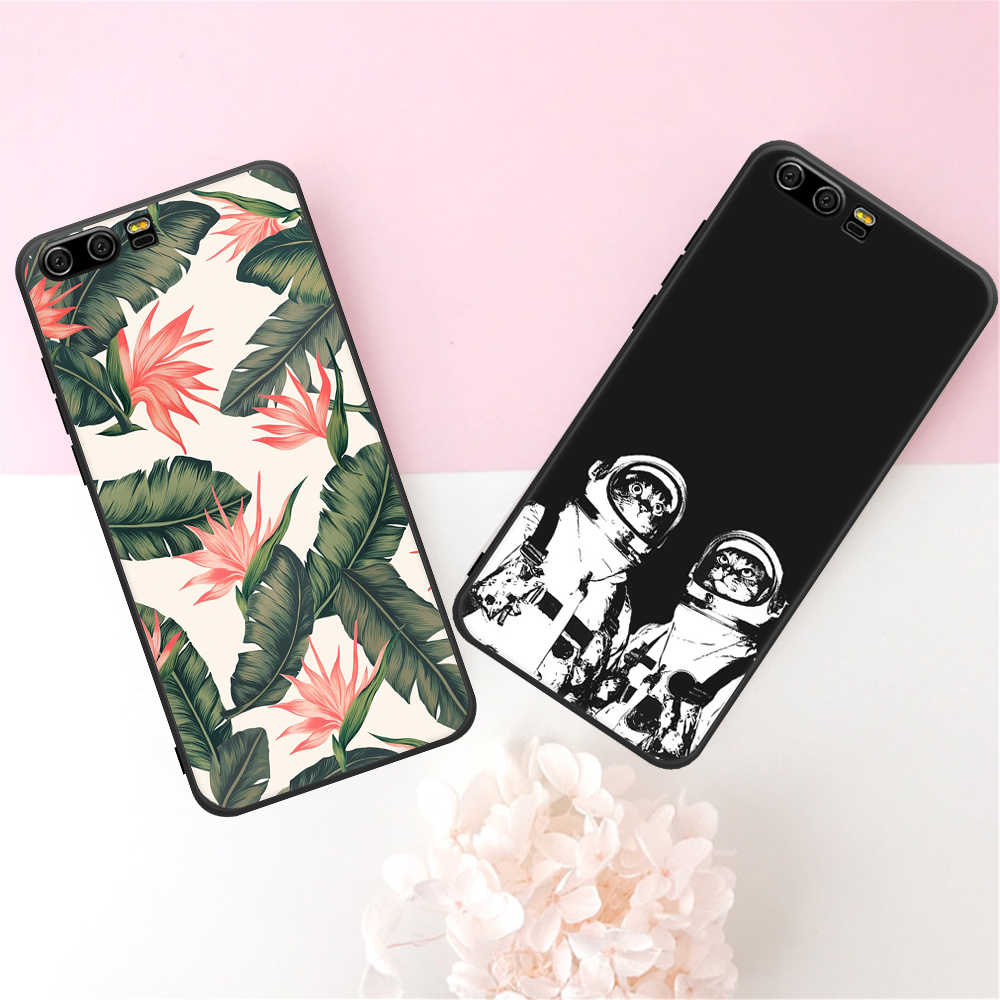 GerTong Matte Soft TPU Case For Huawei P10 Mate 10 P20 lite Pro Y9 2018 Lovely Pattern Back Cover Shell For Huawei Honor 9 Lite