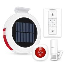 KOOCHUWAH Hosa Wireless Home Security Alarm SMS GSM Alarm Sensor Solar Siren Monitoring Motion Detector 2G Security Kit Alarm все цены