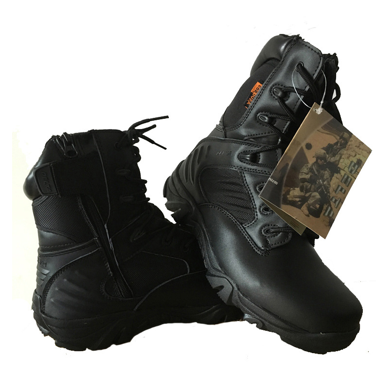 winter mens outdoor warm genuine leather desert army