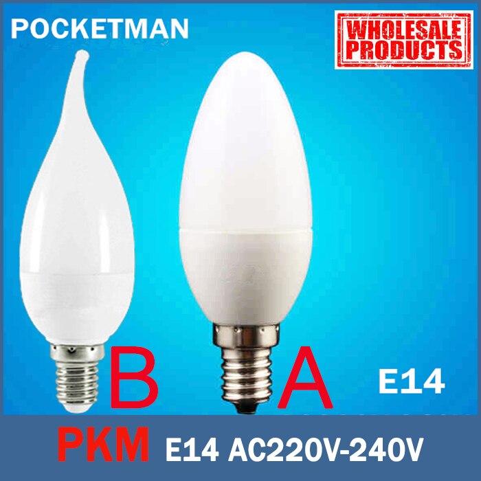 E14 LED Candle Bulb E14 2835 SMD 6W Led Candle Light Bulb Lamp Warm/Cool White Home Interior Decoration Mode A B ZK49
